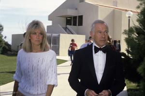 Johnny Carson and wife Alexandra (Alexis) Maascirca 1987© 1980 Gary Lewis - Image 0072_0793
