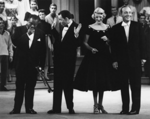 """Louis Armstrong, Frank Sinatra, Rosemary Clooney, Bing Crosby on """"The Edsel Show""""1957Photo by Gabi Rona - Image 0073_2010"""