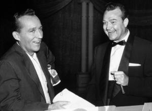 Bing Crosby and Red Skelton receiving Cook Award1955Photo by Gabi Rona - Image 0073_2025