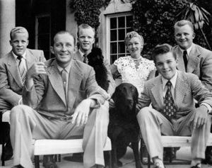 Bing Crosby, wife Dixie Lee, sons Dennis, Phillip, Garry, Lindsay, c. 1947 - Image 0073_2042