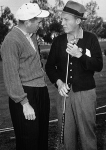 Bing Crosby and Dow Finsterwald at Rancho Municipal golf course for the Los Angeles Opencirca 1958Photo by Lester Nehamkin** G.L. - Image 0073_2053