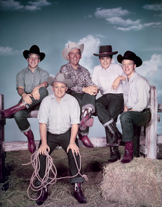 Bing Crosby with his sons Gary, Phillip, Dennis and Lindsaycirca 1960Photo by Bud Fraker - Image 0073_2068