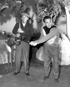 Bing Crosby and Bob Crosbycirca 1957Photo by Gabi Rona - Image 0073_2093
