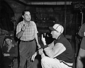 """Bing Crosby and director Leo McCarey during the making of """"Going My Way""""1944** E.T.C. - Image 0073_2118"""