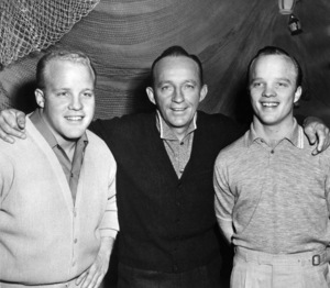 """Bing Crosby with twin sons Phillip and Dennis during """"The Bing Crosby Show""""1959 - Image 0073_2128"""