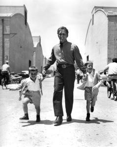 "Kirk Douglas with his sons Michael and Joe on the set of ""The Big Trees""1952 Warner Bros. - Image 0075_0019"