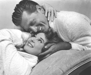 "Kirk Douglas & Susan Haywardwhile filming ""Top Secret Affair""1957 Warner Bros. - Image 0075_0029"