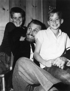 "Kirk Douglas and his sons Joel and Michael on the set of ""Lust for Life""1956 MGM** I.V. - Image 0075_1164"