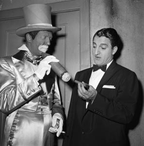 Danny Thomas with dancer Dan Dailey circa 1950s Photo by Gerald Smith - Image 0076_0602