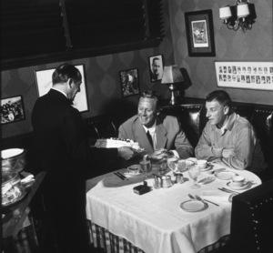 Stanley Kramer and Van Johnson at Chasen