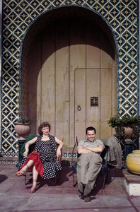 Glenn Ford at home in Beverly Hills, CA with wife Eleanor Powellcirca 1952** J.S. - Image 0079_1012
