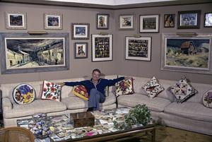 Glenn Ford at home1975 © 1978 Gene Trindl - Image 0079_1020