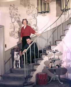Glenn Ford and his wife Eleanor Powell at home1956Photo by Ernest E. Reshovsky © 2000 Marc Reshovsky - Image 0079_1023