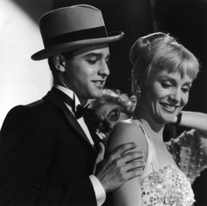 """Sal Mineo and Susan Oliver on the set of """"The Gene Krupa Story""""1959 © 1978 Sid Avery - Image 0083_0211"""