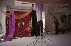 Sid Avery photographing Inger Stevens in his studio1963 - Image 0090_0130