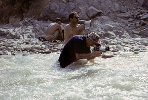 ProductionSid Avery shooting with his Hasselblad Camera for an RC Cola commercial in the Sacramento River 1967© 1978 Sid Avery - Image 0090_0139