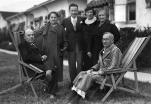 Mrs. Tatch, Raymond Avery, Rae Avery, Bessie Avery and Max Avery at The City of Hope 01-31-1940 - Image 0090_1067