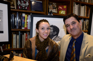 "Ron Avery and daughter Toni at a book signing for ""Sid Avery: The Art of the Hollywood Snapshot"" 12-15-2012 / Arcana: Books on the Arts / Culver City, CA © 2012 Andrew Howick - Image 0090_1094"
