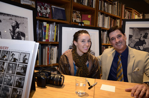 "Ron Avery and daughter Toni at a book signing for ""Sid Avery: The Art of the Hollywood Snapshot"" 12-15-2012 / Arcana: Books on the Arts / Culver City, CA © 2012 Andrew Howick - Image 0090_1095"