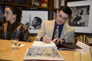 """Ron Avery and daughter Toni at a book signing for """"Sid Avery: The Art of the Hollywood Snapshot"""" 12-15-2012 / Arcana: Books on the Arts / Culver City, CA © 2012 Andrew Howick - Image 0090_1096"""
