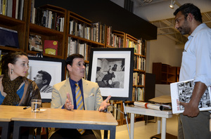 """Ron Avery and daughter Toni at a book signing for """"Sid Avery: The Art of the Hollywood Snapshot"""" 12-15-2012 / Arcana: Books on the Arts / Culver City, CA © 2012 Andrew Howick - Image 0090_1097"""