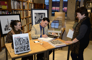 "Ron Avery and daughter Toni at a book signing for ""Sid Avery: The Art of the Hollywood Snapshot"" 12-15-2012 / Arcana: Books on the Arts / Culver City, CA © 2012 Andrew Howick - Image 0090_1098"