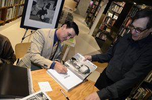 "Ron Avery with Lee Kaplan at a book signing for ""Sid Avery: The Art of the Hollywood Snapshot"" 12-15-2012 / Arcana: Books on the Arts / Culver City, CA © 2012 Andrew Howick - Image 0090_1102"
