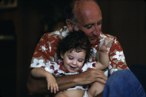 Sid Avery with his granddaughter Samantha Guttman at Sid