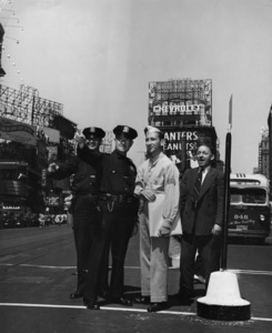 Staff Sgt. Sid Avery on 46th and Broadway in Times Square1941© 1978 Sid Avery - Image 0090_1113