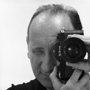 Sid Avery with his 35mm Nikon F camera1963© 1978 Sid Avery - Image 0090_1116