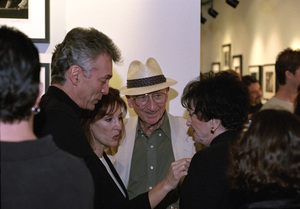 """Photographer Sid Avery with his wife, Diana, and Deana Martin and her husband, John Griffeth, at """"Tinsel: Stars That Shine"""" opening at Apex Fine Art in Los Angeles, California10-19-2001© 2001 Bill Knapp - Image 0090_1117"""
