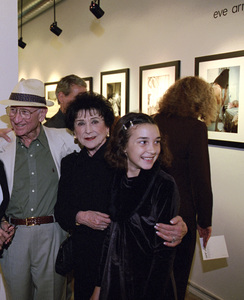 """Photographer Sid Avery and his wife, Diana, with their granddaughter, Toni Avery, at """"Tinsel: Stars That Shine"""" opening at Apex Fine Art in Los Angeles, California10-19-2001© 2001 Bill Knapp - Image 0090_1118"""