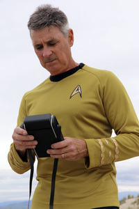 "Ron Avery in ""Star Trek"" uniform 2019© 2019 Ron Avery - Image 0090_1129"