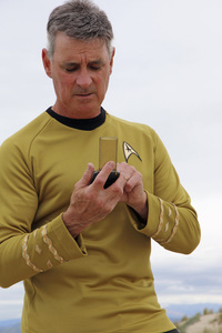 "Ron Avery in ""Star Trek"" uniform 2019© 2019 Ron Avery - Image 0090_1135"