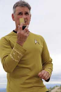 "Ron Avery in ""Star Trek"" uniform 2019© 2019 Ron Avery - Image 0090_1138"