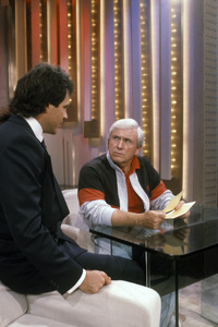 """Merv Griffin on the set of """"The Merv Griffin Show""""1985 © 1985 Gene Trindl - Image 0091_0459"""