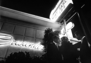 Bob Newhart, Michele Girardon and Mort Sahl in front of the Crescendo nightclub1961 © 1978 Sid Avery - Image 0092_1151