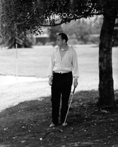 Bob Newhart golfing at Lakeside Golf Course1961 © 1978 Sid Avery - Image 0092_3008