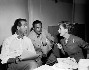 Fred MacMurray and Irene Dunne doing a radio show1951 © 1978 Sid Avery - Image 0095_1031
