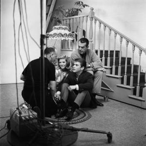 Fred MacMurray, Tim Considine and Meredith MacRae with photographer Sid Avery 1963© 1978 Sid Avery - Image 0095_1039