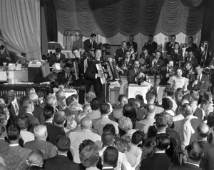 Lawrence Welk at the Aragon Ball Room in Santa Monica 1956 © 1978 Sid Avery - Image 0097_0400