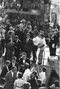 Democratic National Convention / Los Angeles, CA / Edward G. Robinson, Ted Kennedy, John F. Kennedy, Robert Kennedy1960 © 1978 Bernie Abramson - Image 0135_0016