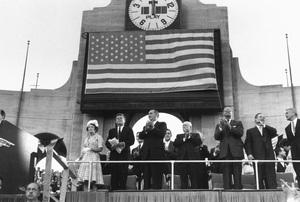 John F. Kennedy, Rose Kennedy, Lyndon B. Johnson, Sam Rayburn and Hubert H. Humphrey at the Democratic National Convention1960 © 1978 Bernie Abramson - Image 0135_0024
