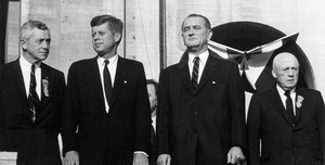 John F. Kennedy, Lyndon B. Johnson and Sam Rayburn at the Democratic National Convention1960 © 1978 Lou Jacobs Jr.  - Image 0135_0049