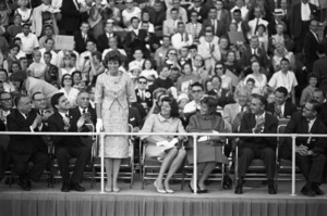 Eunice Kennedy Shriver and Patricia Kennedy Lawford at the Democratic National Convention 1960 © 1978 Bruce McBroom - Image 0135_0055