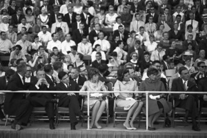Eunice Kennedy Shriver and Patricia Kennedy Lawford at the Democratic National Convention 1960 © 1978 Bruce McBroom - Image 0135_0056