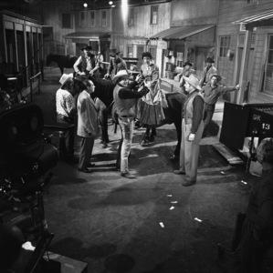 """Gunsmoke"" (""Fat"" Jones Ranch)Dennis Weaver, James Arness1956© 1978 Sid Avery - Image 0146_0394"