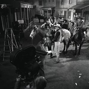 """Gunsmoke"" (""Fat"" Jones Ranch)James Arness, Dennis Weaver1956© 1978 Sid Avery - Image 0146_0395"
