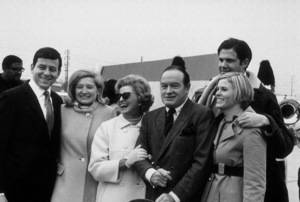 Bob Hope with wife Dolores and family before leaving for Vietnam on 18th Annual Christmas U.S.O. Tour1968 © 1978 Gene Howard - Image 0173_0445
