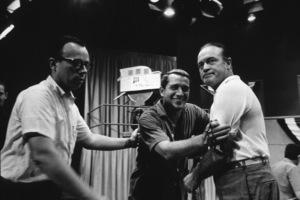 "Bob Hope with Perry Como during rehearsal for ""The Bob Hope Show,"" c.1963 Photo: Ernest Reshovsky © 1978 Marc Reshovsky - Image 0173_0526"
